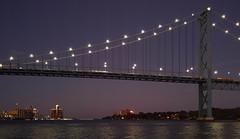 Ambassador Bridge at dusk (mgsmith) Tags: detroitriver sail detroithistorytours tallships detroit sailboat water bridge ambassador