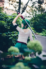 Roronoa Zoro (ロロノア・ゾロ) (btsephoto) Tags: cosplay costume play コスプレ anime fuji fujifilm xt2 portrait otakuthon convention montreal quebec palais des congrès de montréal québec flashpoint ttl pocket flash evolv 200 r2 godox a200 roronoa zoro ロロノア ゾロ ロロノア・ゾロ one piece ワンピース pirate hunter fujinon xf 56mm f12 r lens