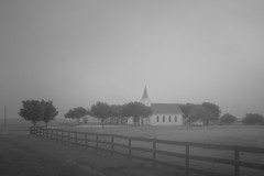 Immanuel Lutheran Church - Rural Williamson County, Texas (lonestarbackroads) Tags: christian church fog foggy lutheran lutheranchurch religion religious texas tx unitedstates us williamsoncounty williamsoncountytexas williamsoncountytx