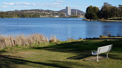 Bench view of Ginninderra College (spelio) Tags: act canberra australia