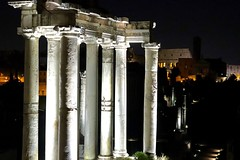 Rome by night - Fori Imperiali (Riccardo Ceci) Tags: rome sightseeing anchient foro romano palatino 50mm