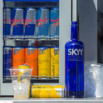 Display refrigerator with various Red Bull beverages thumbnail