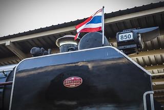 Steam locomotive in Thailand