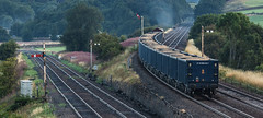 Four Poster Shed (Blaydon52C) Tags: 66116 settle junction railway semaphore db cargo carlisle gypsum railfreight ews class66 6m97