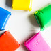 Bags of colored remoldable foam