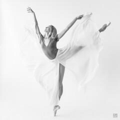 Ashleigh 1 (lycheng99) Tags: ashleigh thedancephotographyworkshop ballet ballerina fly butterfly woman beauty blackandwhite monochrome portrait face balance fitness pose sanfrancisco dancer dance dancephotography