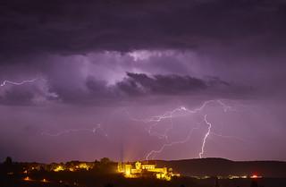 Gewitter über Burg Stettenfels