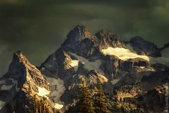 Mount Rainier National Park | Cowlitz Chimneys (Nature1844 Photography) Tags: mountrainiernationalpark sunrise crags clouds nature landscape cowlitzchimneys t3i