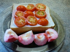 A healthy lunch ... ☺ (Tricia in Kent UK ....☺) Tags: ahealthylunch homegrowntomatoes tomatoes apples beautyofbathapples garden maidstonekentuk