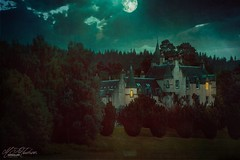 Highlands of Scotland UK (Mandyjj543) Tags: castle trees estates moon moonlight composite atmosphere moody scotland highlands haunting house houses canon lens ghostly night evening