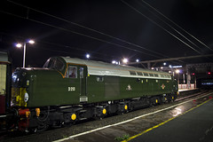 The William Shakespeare (DM47744) Tags: class 40 40013 d213 preston train trains br green british rail special charter travel loco diesel engine track traction transport night time nikon railway d3100 transportation type 4 english electric ee preserved preservation saphos wcml