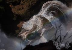 The eye of the falls (thierry_meunier) Tags: afrique azilal hautatlas highatlas maroc morocco ouzoud arcenciel campagne cascades chutes falls femme homme landscape man monkey nature rainbow singe travel voyage water woman