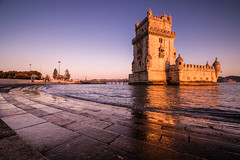 Lisbon   |   Torre de Belém (JB_1984) Tags: torredebelém tower castle towerofstvincent rivertagus riotejo goldenhour evening sunset reflection water belém lisbon lisboa portugal nikon d500 nikond500
