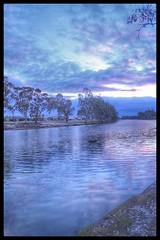 Wimmera River At SUnset (florahaggis) Tags: wimmerariver horsham victoria australia wimmera river water reflections sky sunset cloudsstormssunsetssunrises canon6dmkii