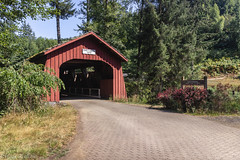 Drift Creek covered bridge (Maria Echaniz) Tags: coveredbridge oregoncoveredbridge summer bridge driftcreekcoveredbridge oregon lincolncity oregoncoast 1914 bearcreek usa lincolncounty centralcoast hiking woods