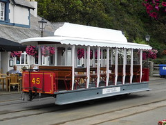 Douglas Bay Horse Tramway: Car 45 at Derby Castle (24/07/2018) (David Hennessey) Tags: douglas bay horse tramway car 45 derby castle