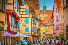Colmar, France - 1 (Dhina A) Tags: sony a7rii ilce7rm2 a7r2 a7r fe 24105mm f4 sonyfe24105mmf4 zoom lens bokeh sharp sel24105g tour holiday trip favorite french magical medieval beautiful village france colmar alsace architecture alsatian