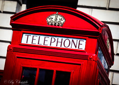 So British ! (christelerousset) Tags: londres london telephone cabin red rouge emblématique british phone westminster bigben england angleterre