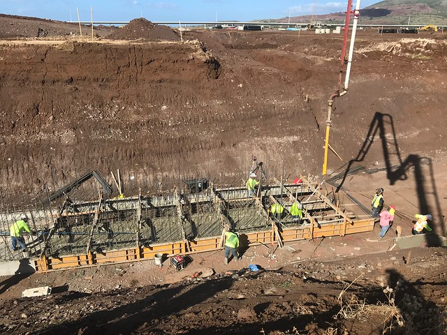 Finishing Edge crew working on a drain culvert at Ho'opili
