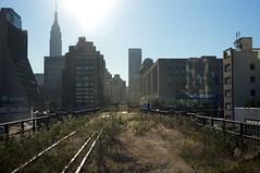 By the rail yards (dakw23) Tags: 35mm summicron leica thehighline empirestatebuilding nyc urban wilderness