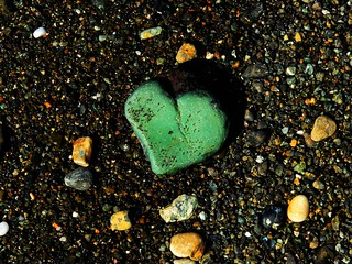 A heart of green and hard stone.
