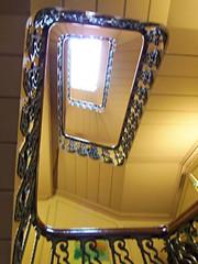 62 Castle Street Hotel, Liverpool, England (teresue) Tags: 2017 uk unitedkingdom greatbritain england merseyside liverpool castlestreet 62castlestreethotel lookingup stairwell hotel