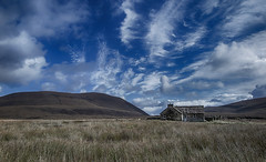 Over the hill and far, far away (judmac1) Tags: remote cottage hoy orkney scotland northern clouds