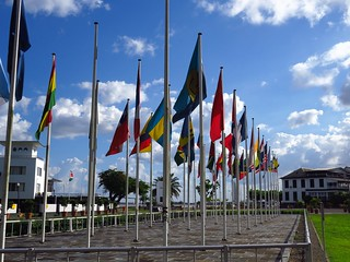 Flags on Independence Square
