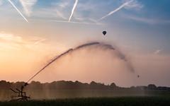 Aiming at the balloon (teamnullvier) Tags: ifttt 500px pont baersdonk sunset sonnenuntergang sky himmel landscape panasonic lumix gx80 gx85 landschaft watersprinkler niederrhein