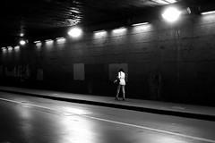 The woman in white (pascalcolin1) Tags: paris12 femme woman blanc white tunnel chanel lumière light reflets reflection streetview urbanarte noiretblanc blackandwhite photopascalcolin canon50mm 5omm canon