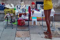 Yellow skirt (gerard eder) Tags: world travel reise viajes europa europe españa spain spanien valencia städte stadtlandschaft street streetlife streetart urban urbanlife urbanview streetmarket legs outdoor oldcity