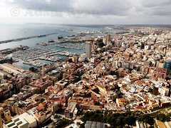 Alicante City From Above (✈ Adam_Ryan ✈) Tags: spain alicante city above high highup 2017 october castle sun hot holiday alicantespain santabarbaracastle photo alicantecity landscape overview