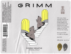 DOUBLE NEGATIVE by Gretta Johnson for Grimm Artisan Ales (Label_Craft) Tags: beer beers craftbeer brew suds ale labels craft labelcraft beerlabel design illustration type fonts burp beerme brewery grimm grimmartisanalales grimmales doublenegative imperialstout stout grettajohnson gretta brooklyn nyc