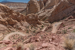 Navigating the Burr Trail switchbacks