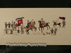 Panel 8 (Stamford Bridge Tapestry Project) Tags: tapestry stamfordbridge battleofstamfordbridge 1066 embroidery
