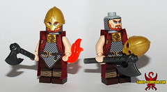 July 2018: Frederik the Burning Viking (Saber-Scorpion) Tags: lego minifig minifigure minifigs minifigures moc brickforge brickwarriors viking norse nordic norseman nord vikings