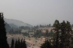 """View"" down to the trailhead parking lot (rozoneill) Tags: lassen volcanic national park peak hiking california volcano"