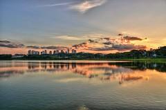 D71_4342_TM1 (A. Neto) Tags: sigmadc18250macrohsmos sigma nikond7100 nikon copyrightcaneto color landscape lake water skyline sky clouds sunset golden reflections