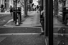 The Last Draw (Leanne Boulton) Tags: road monochrome sidewalk urban street candid portrait streetphotography candidstreetphotography candidportrait streetportrait streetlife man male sitting doorway smoke smoker smoking cigarette pavement hidden reflection perspective composition tone texture detail depthoffield bokeh naturallight outdoor light shade city scene human life living humanity society culture lifestyle people canon canon5dmkiii ef2470mmf28liiusm black white blackwhite bw mono blackandwhite glasgow scotland uk