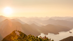 Just an incredible morning view (redfurwolf) Tags: herzogstand landscape morning sunrise sunset sky mountains nature panorama pano cross lake walchensee sonyalpha bealpha sony redfurwolf a7rm3 sal2470f28za water sunshine