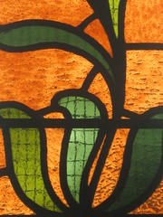 Detail of the Art Nouveau Flowers in the A. E. Woolley Memorial Stained Glass Window of 1898: St. Mark the Evangelist Church of England - George Street, Fitzroy (raaen99) Tags: stmarktheevangelist stmarks stmarksfitzroy stmarksanglican churchofengland anglicanchurch anglican fitzroychurch fitzroy georgest georgestreet church placeofworship religion religiousbuilding religious melbourne melbournearchitecture 1853 1855 1850s nineteenthcentury victorian victoriana 19thcentury victoria australia suburban suburbs melbournesuburbs bluestone tracery gothicarchitecture gothicrevivalarchitecture gothicrevivalchurch gothicchurch gothicbuilding gothicrevivalbuilding gothicstyle gothicrevivalstyle architecturallydesigned jamesblackburn lloydtayler leonardterry charleswebb architecture building window stainedglass stainedglasswindow gothic gothicdetail lancet lancetwindow 1898 aewoolleymemorial aewoolleymemorialstainedglasswindow artnouveau artnouveaustainedglass allegory allegorical williammontgomery williammontgomerystainedglass williammontgomerystainedglasswindow artist stainedglassartist