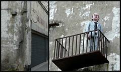 Isaac Cordal @ The Crystal Ship 2016 (Linda DV) Tags: ribbet lindadevolder lumix belgium oostende ostend thecrystalship wwwthecrystalshiporg streetart 2018 geotagged urbanart collage isaaccordal httpcementeclipsescom cementeclipses ostende belgiancoast panasonic city