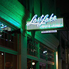 Lost Lake, Seattle, Washington, USA (Plan R) Tags: lounge restaurant bar neon seattle evening night leica m 240 noctilux 50mm