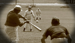Vintage Baseball, Cantigny Park. 45 (EOS) (Mega-Magpie) Tags: canon eos 60d outdoors vintage baseball cantigny park wheaton dupage il illinois usa america sepia men people person dude fella players game
