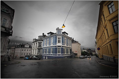 Bergen streets (seeneasy) Tags: norway norvegia bergen streets strade case palazzi buildings cityscape clouds nuvole seeneasy canon canon5dmarkii canonef1635f4lisusm estate summer