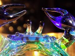 """crab  """"Glass"""". (marieschubert1) Tags: color glass crab figurine closeup """"macro mondays"""""""