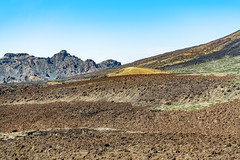 Colorful landscape (Tambako the Jaguar) Tags: mount teide mountain volcano national park hills rocks stone landscape scenery view colorful tenerife spain nikon d850