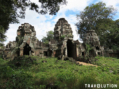 East Gate of Preah Khan of Kampong Svay Temple (Travolution360) Tags: cambodia preah khan kampong svay temple east gate ruins ancient history angkor khmer holiday jungle travel