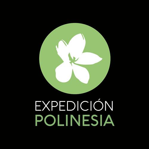Expedicio´n polinesia isologo fondo negro