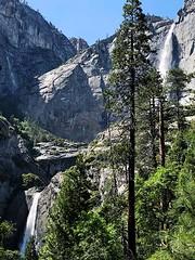 Upper and Lower Yosemite Falls (AntyDiluvian) Tags: california mariposa yosemite yosemitenationalpark park nationalpark valley yosemitevalley falls waterfall yosemitefalls upperyosemitefalls loweryosemitefalls